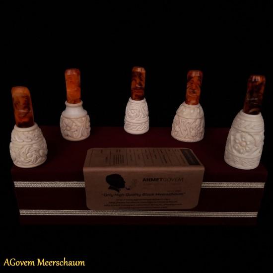 Handmade Meerschaum Cigar Holder Set, Cigar Tip, Cigar Mouthpiece AGM-249