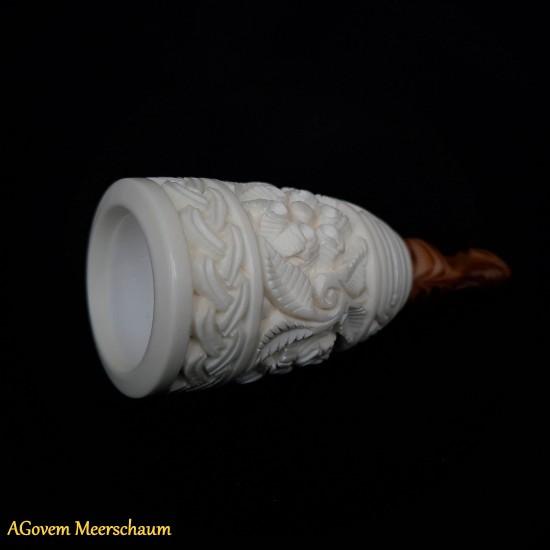Handmade Meerschaum Cigar Holder Set, Cigar Tip, Cigar Mouthpiece AGM-250