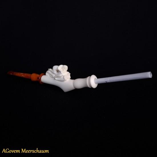 Handmade Meerschaum Cigarette Holder, Cigarette Tip, Cigarette Mouthpiece AGM-54
