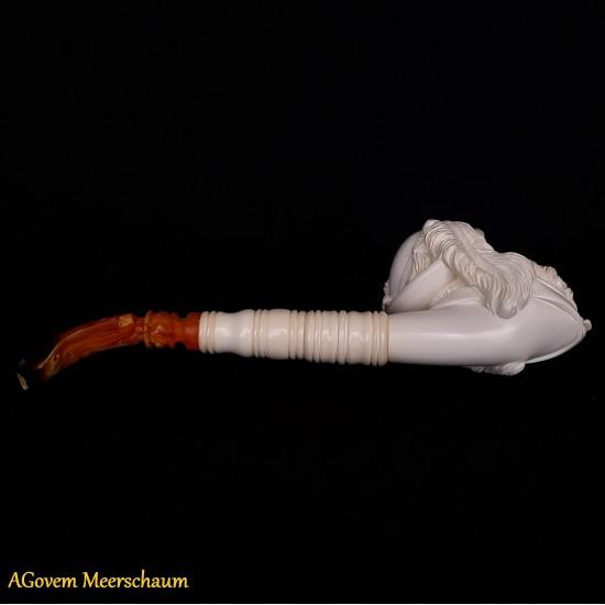 XXL SULTAN Block Meerschaum Pipe AGC-01