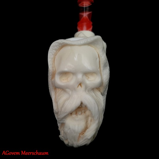 XL GREAM REAPER and NUDE Block Meerschaum Pipe AGM-467